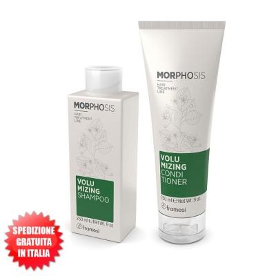 Set Volumizing Shampoo 250ml + Conditioner 250ml For Fine Hair Morphosis FRAMESI
