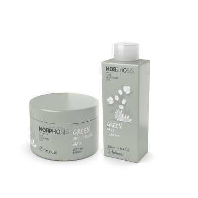Set Green Daily Shampoo 250ml + Green Moisturizing Mask 200ml Morphosis FRAMESI