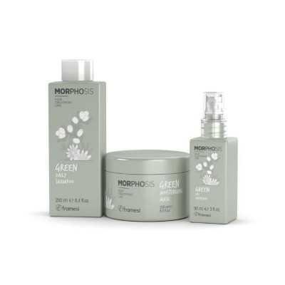Set Green Daily Shampoo 250ml + Green Moisturizing Mask 200ml + Green Oil Infusion 90ml Morphosis FRAMESI