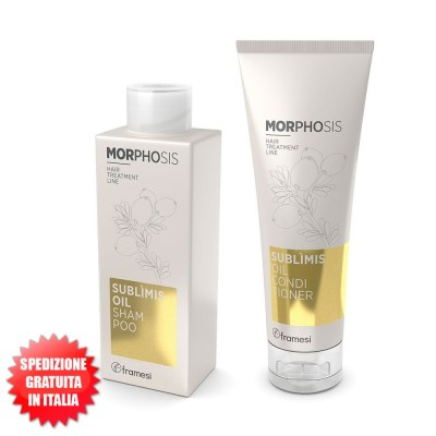 Set Sublìmis Oil Shampoo 250ml + Sublìmis Oil Conditioner 250ml Morphosis FRAMESI