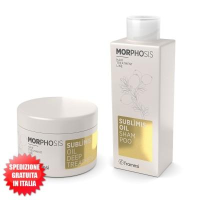 Set Sublìmis Oil Shampoo 250ml + Sublìmis Oil Deep Treatment 200ml Morphosis FRAMESI