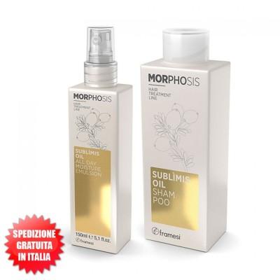 Set Sublìmis Oil Shampoo 250ml + Sublìmis Oil All Day Moisture Emulsion 150ml Morphosis FRAMESI