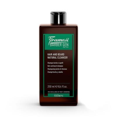 Hair and Beard Natural Cleanser 250ml Barber Gen FRAMESI