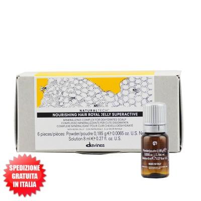 Nourishing Hair Royal Jelly Supercative 6x8ml Naturaltech Trattamento lenitivo DAVINES