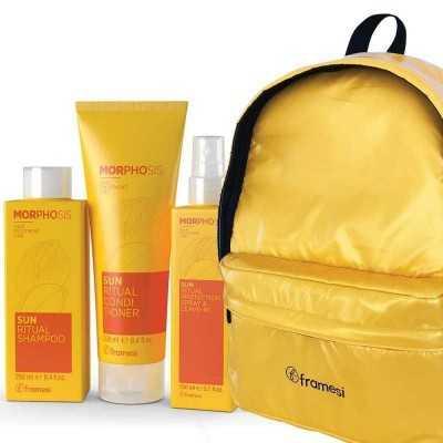 Kit Sun Ritual Shampoo 250ml+ Conditioner 250ml + Protection Spray & Leave-In 150ml Framesi MORPHOSIS