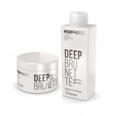 Set Deep Brunette Shampoo 250ml+ Treatment 200ml Morphosis FRAMESI