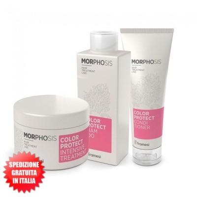 Set Color Protect Shampoo 250ml + Conditioner 250ml + Intensive treatment 200ml Morphosis FRAMESI